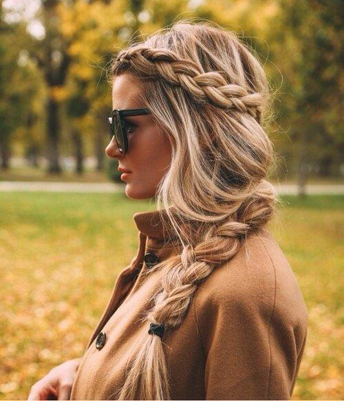 Long, Loose Side Braid