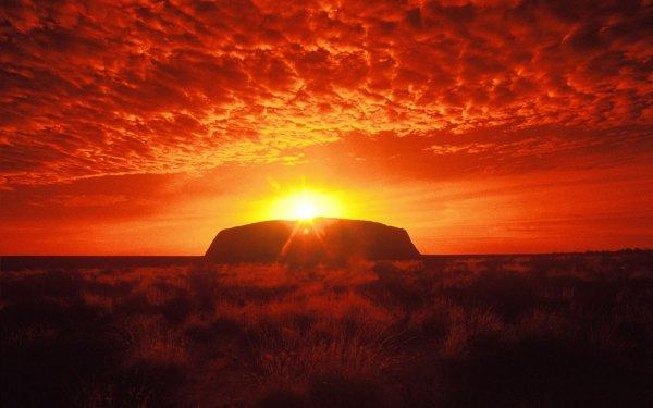 Uluru (a.k.a. Ayers Rock) in Northern Territory, Australia