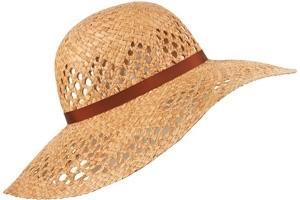 Topshop Tan Band Wheat Floppy Hat
