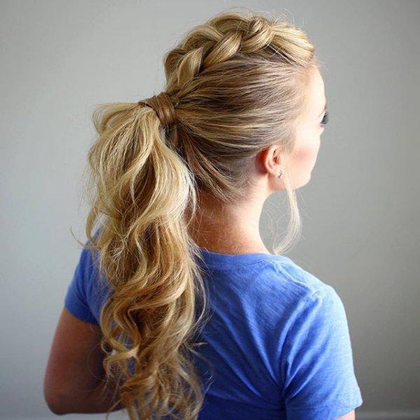 hair, hairstyle, long hair, french braid, bun,