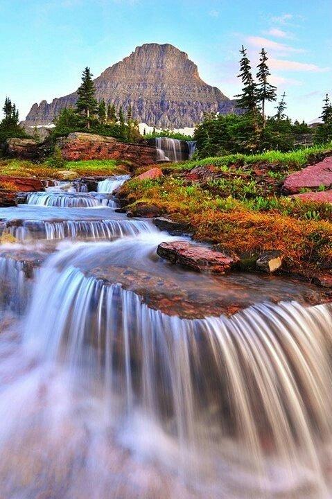 Waterfalls of Eden, Glacier National Park