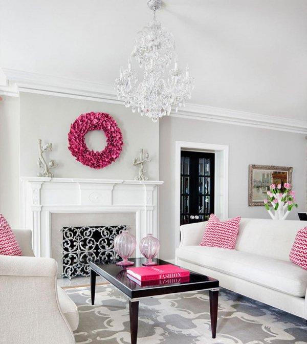 living room, pink, room, interior design, home,