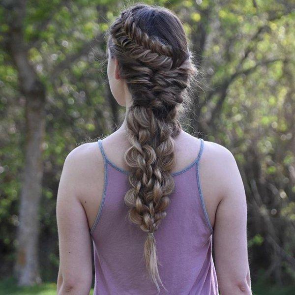 hair, clothing, hairstyle, long hair, braid,