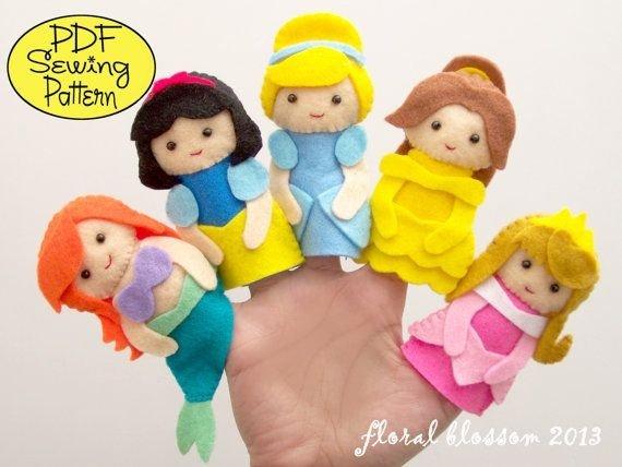 Disney Princess Felt Finger Puppets