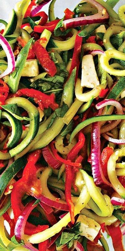 Cucumber-Pepper Slaw