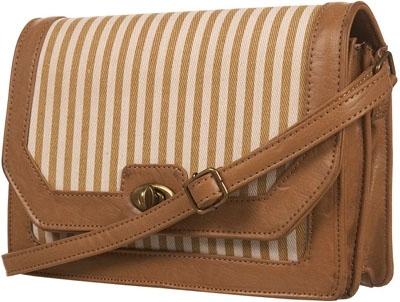 Topshop Beige Stripe Canvas Lady Bag