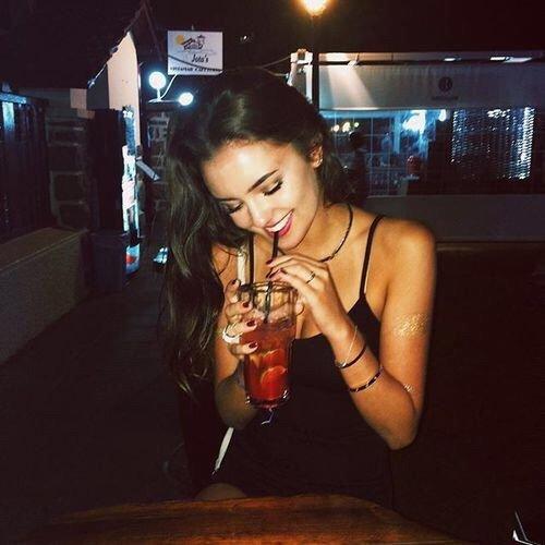 girl, black hair, drink, socialite, fun,