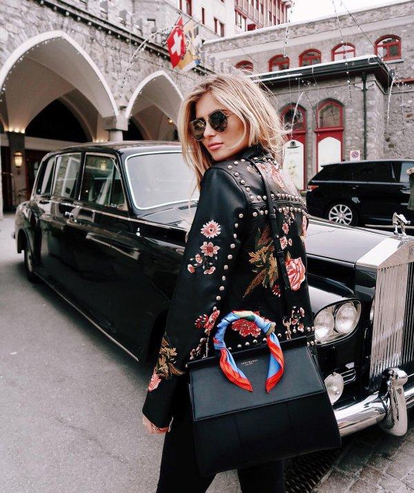 car, black, clothing, vehicle, woman,