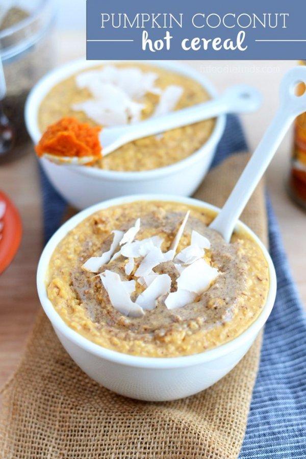 Pumpkin Coconut Hot Cereal