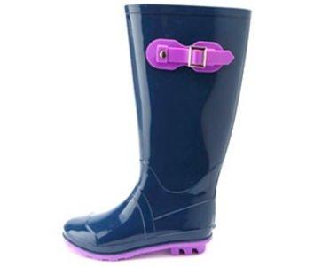 Color Block Rubber Rain Boots