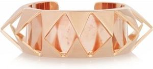 Eddie Borgo Smile Rose Gold Plated Cutout Pyramid Cuff