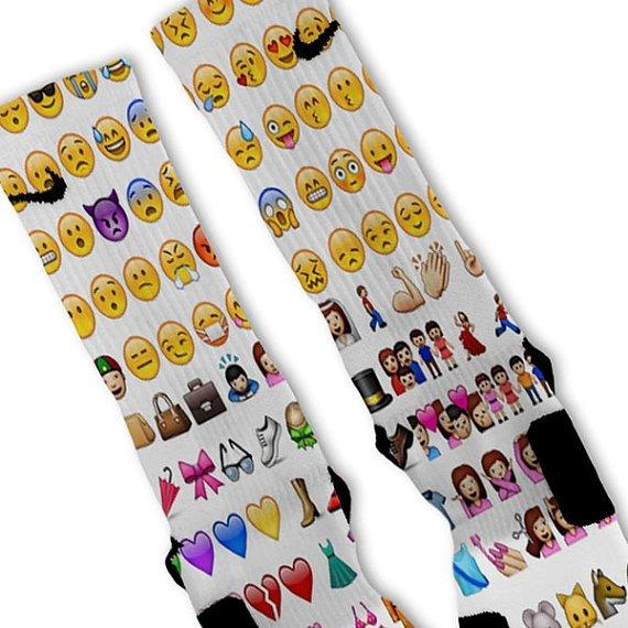 Emoji Customized Nike Elite Socks