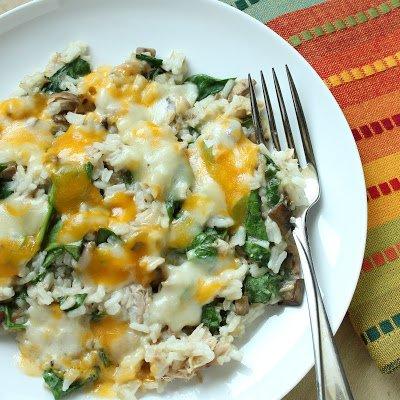 Tuna Rice Casserole with Spinach