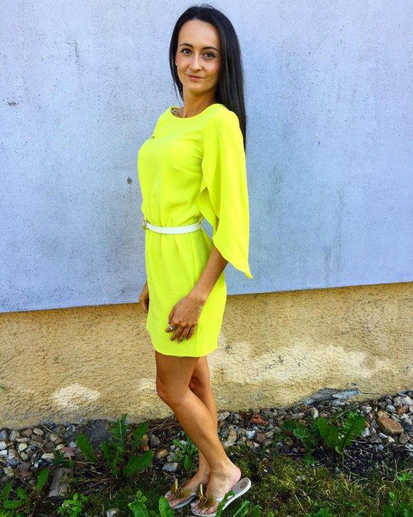 yellow, clothing, green, beauty, dress,