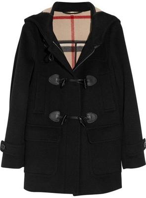 Burberry Brit Hooded Duffel Coat