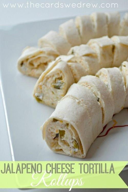 Jalapeno Cheese Tortilla Roll Ups
