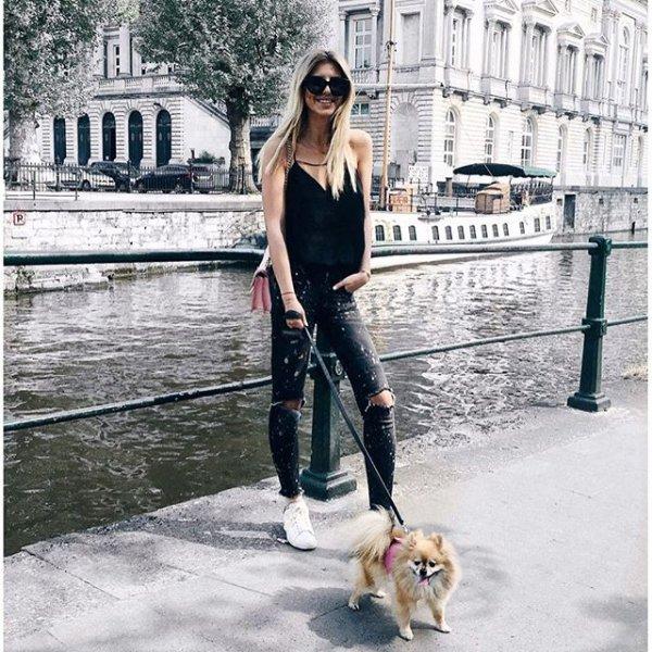 dog walking, footwear, winter, season, spring,