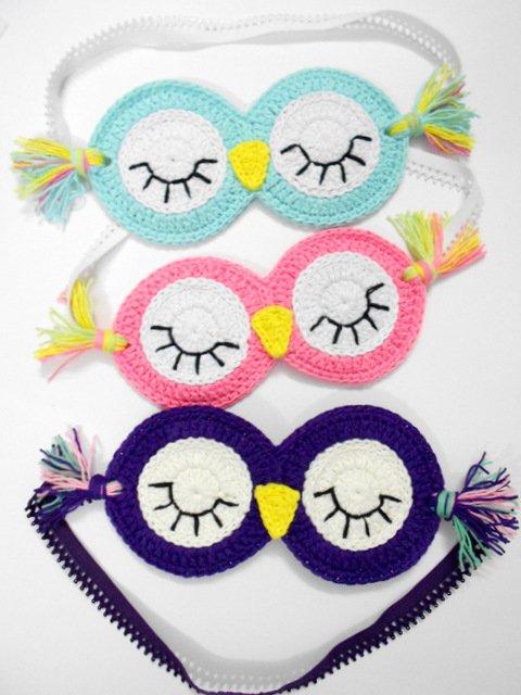 Crochet Owl EYE Mask
