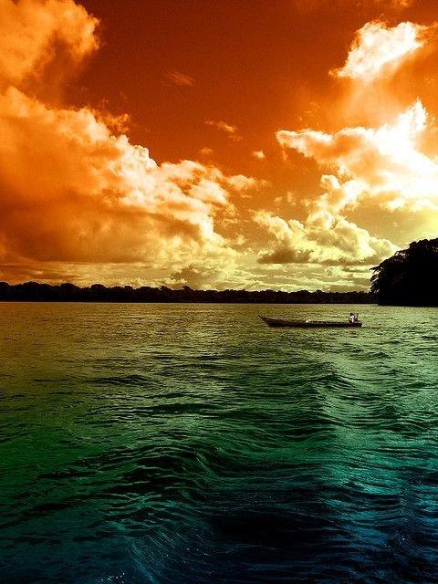 Amazon Sunset in Brazil