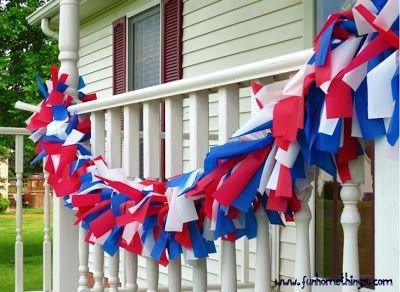 DIY Patriotic Outdoor Garland