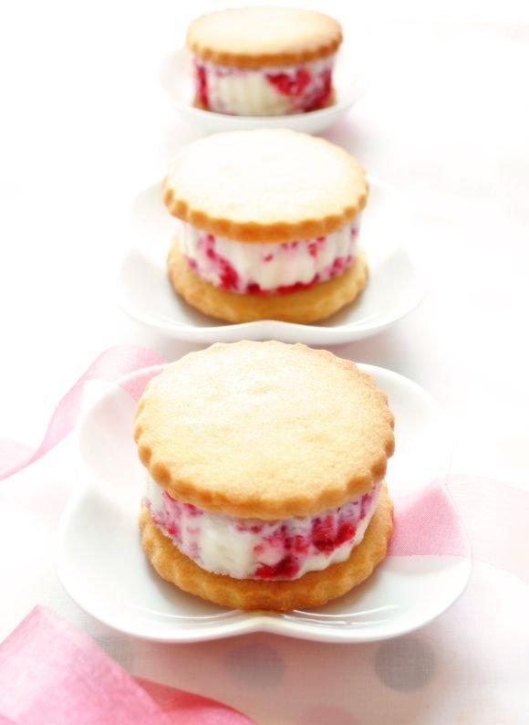 Raspberry Ice Cream Sandwich