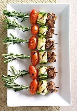 Mediterranean Lamb or Chicken Skewers