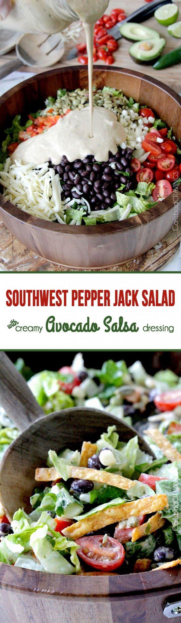 Southwest Pepper Jack Salad