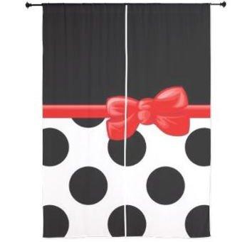 Dots and Ribbon Curtains