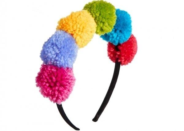Mixed Pom Headband