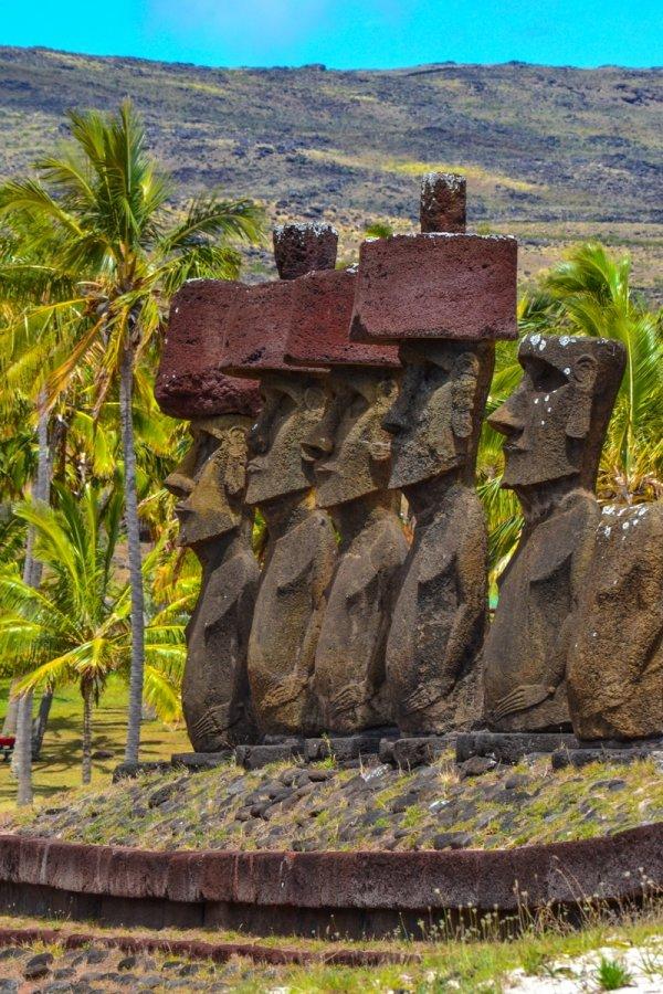 Moai, Anakena Beach, Easter Island, Chile