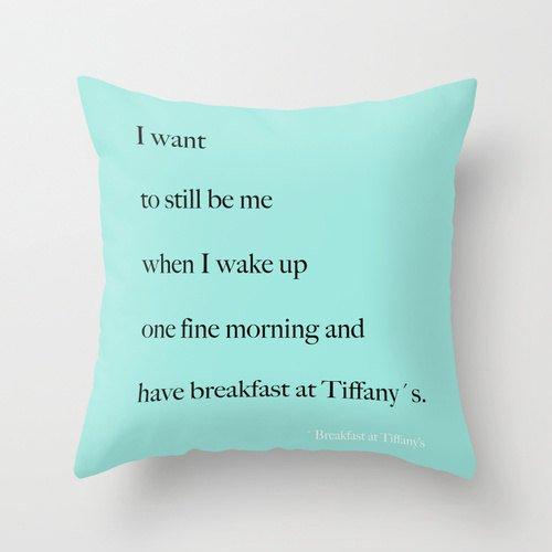 Velveteen Breakfast at Tiffany's Pillow