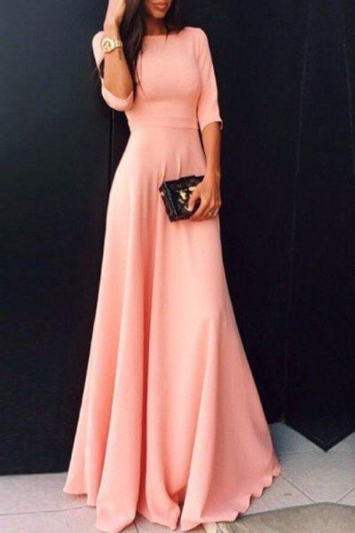 Modest Coral Dress