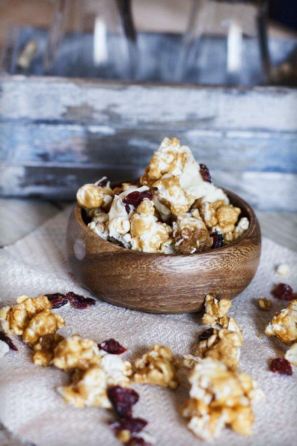 Cranberry Orange and White Chocolate Gourmet Popcorn
