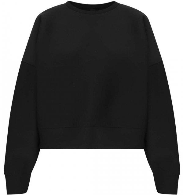 Topshop Neoprene Crop Sweater