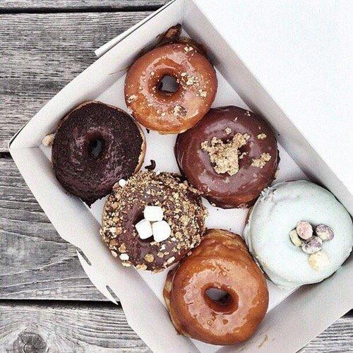 food, dessert, produce, baked goods, doughnut,