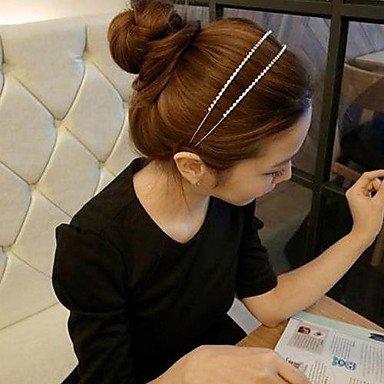 Lureme Fashion Double Row Crystal Headband