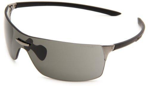 Squadra Sport Sunglasses, Black Frame/Grey Lens, One Size