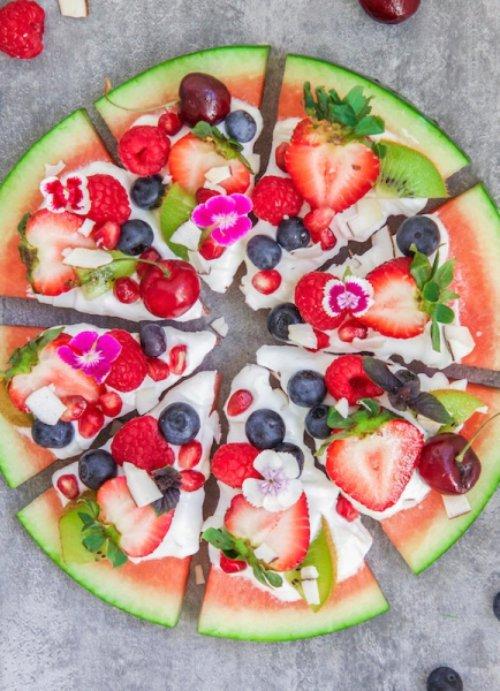 melon, fruit, watermelon, food, appetizer,