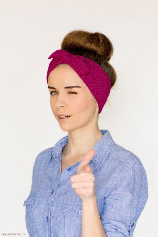 Retro Crocheted Headband