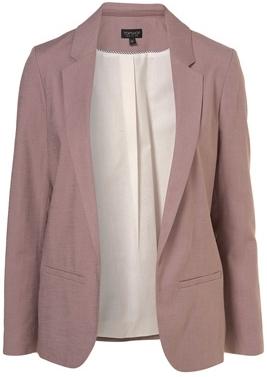 Topshop Lilac Co-ordinating Linen Blazer