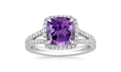Amethyst, Ring, Jewellery, Engagement ring, Purple,