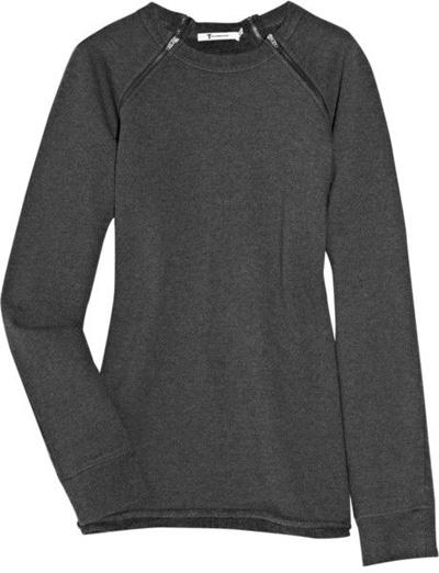 T by Alexander Wang Cotton-Fleece Sweat Shirt