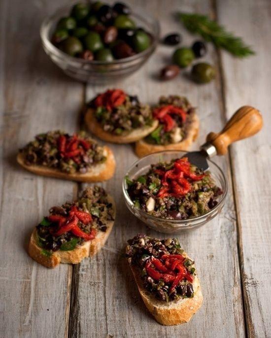 Black Olive Bruschetta