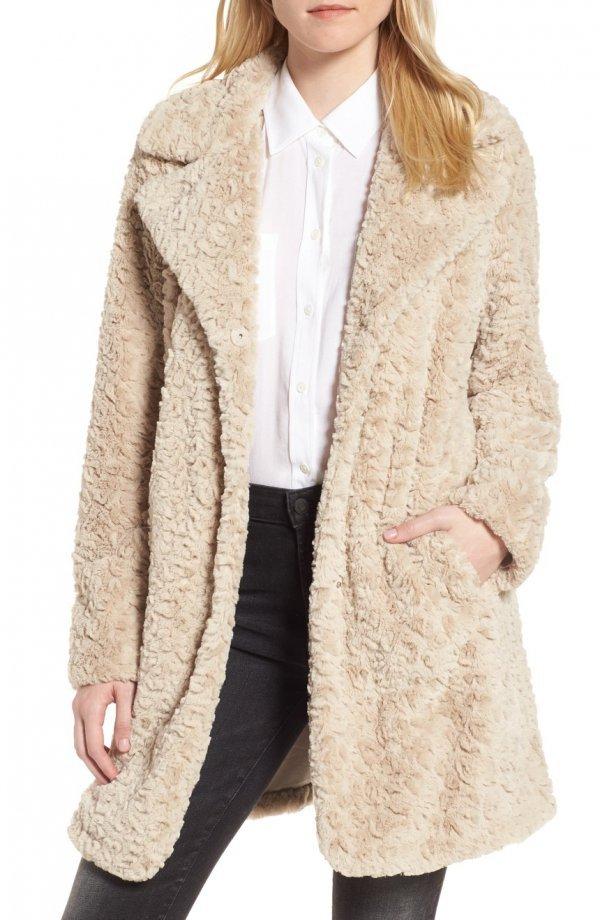 fur clothing, coat, fur, woolen, beige,