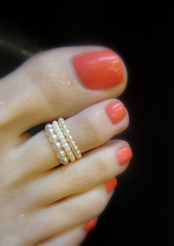 Pearl Toe Ring