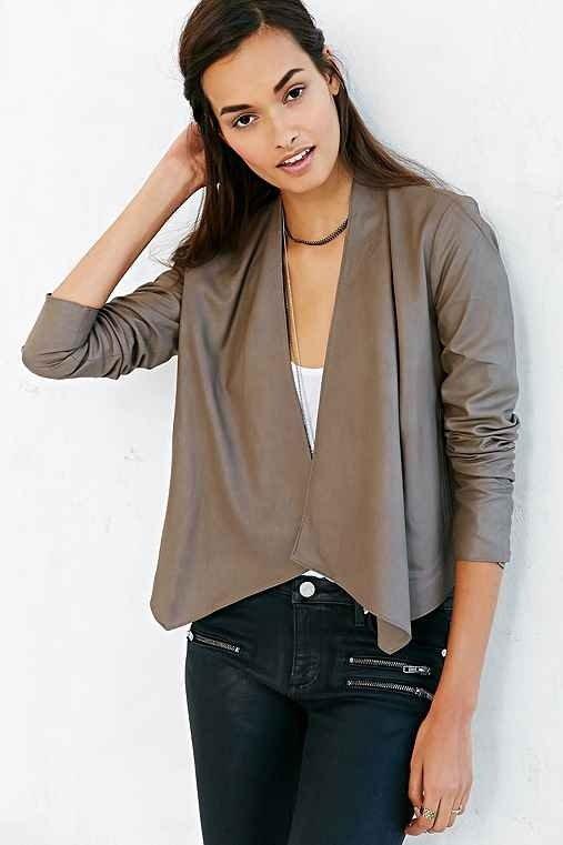 BB Dakota Kilim Leather Jacket- Grey