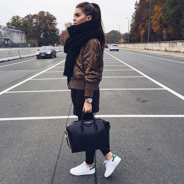 black, clothing, footwear, road, street,