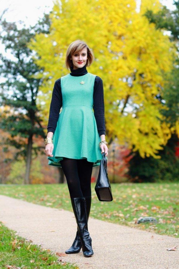 Wear a Turtleneck under a Dress