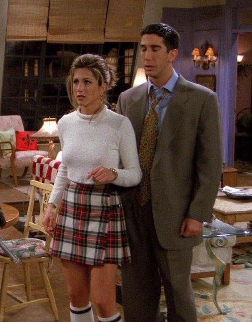 Rachel's Crop Top and Plaid Skirt