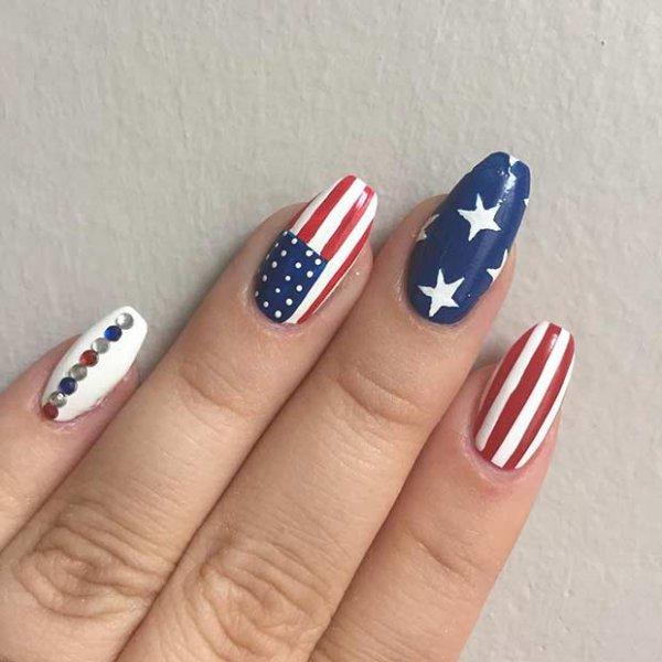 4th of July Nail Design for Long Nails - Patriotic Nail Ideas …